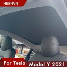 ❤️ Heenvn 2021 nowa osłona przeciwsłoneczna osłona przeciwsłoneczna do samochodu tylny przedni parasol przeciwsłoneczny do modelu Tesla Y świetlik dachowy odcienie akcesoria ochronne