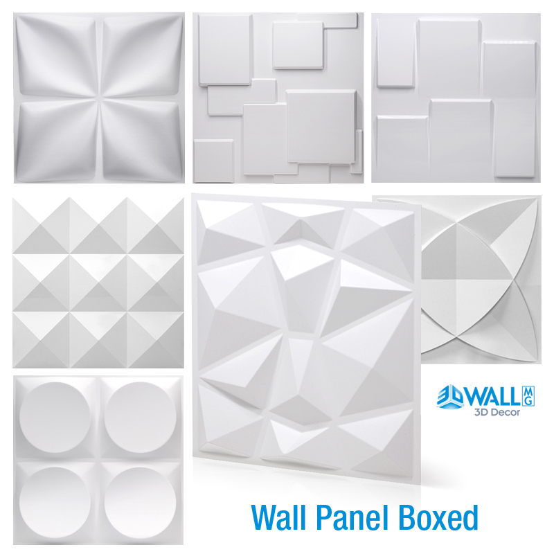 30x30cm 3D Art Wall Panel background wall decor exterior 3D Carving Embossed 3D Wa Pearlescent Color