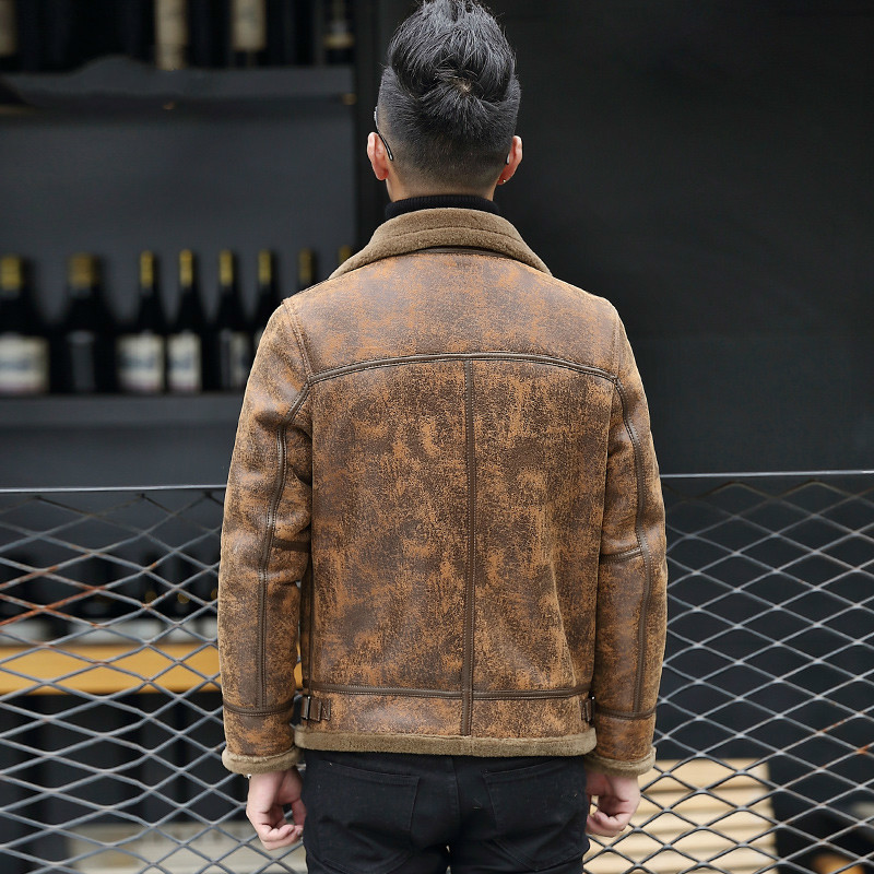 Genuine Leather Jacket Men Short Motor Sheepskin Coat Men's Leather Jackets Korean Coats L16647K KJ1331