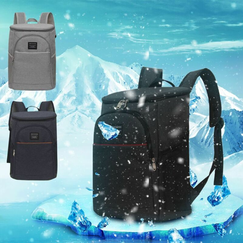 Cooler Bag Insulated Lunch Travel Ice Picnic Camping Cold Drink Cooling Backpack