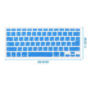 Image 5 - Russian English Keyboard Cover For Apple Macbook Pro Air 13 15 Soft TPU Waterproof keyboard stickers for Macbook EU US 13 15