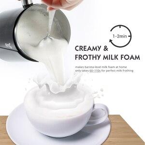 Image 2 - جهاز بخار كهربائي DEVISIB مزبد الحليب لصنع لاتيه كابتشينو شوكولاتة ساخنة جهاز تسخين أوتوماتيكي من الفولاذ المقاوم للصدأ للأجهزة المنزلية