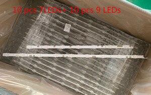 "Image 5 - LED Backlight Strip 16โคมไฟสำหรับSamsung 60 ""ทีวีUN60JS700D UN60JS8000 N60KU6300 KQ601R3HA6K UE60JU6800 UE60JU6870 UA60JS7200"