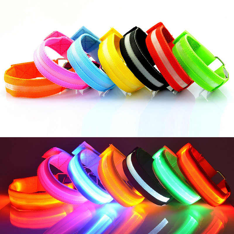 Led Blinkt Nacht Lauf Arm Gürtel Bliking Armband Licht Armreif Armband Club Party Bar Jubeln Luminous Glow Stick Weihnachten