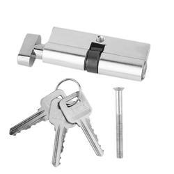 Высокое качество 70 мм алюминиевый дверной цилиндрический замок Домашняя безопасность анти-Оснастка анти-дрель дверной замок с 3 ключами Се...