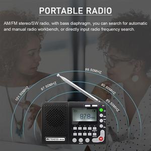 Image 2 - Retekess TR102 휴대용 라디오 FM/AM/SW 세계 밴드 수신기 MP3 플레이어 REC 레코더 수면 타이머 블랙 FM 라디오 레코더