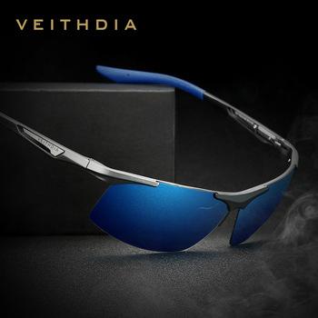 VEITHDIA Magnez magnezu okulary meskie Spolaryzowane mężczyzn Powłoka Lustro okulary mężczyzn Okulary Akcesoria dla mężczyzn 6562 tanie i dobre opinie Rectangle Dla dorosłych Aluminium UV400 Antyrefleksyjną 4 0 cm Poliwęglan 7 0 cm