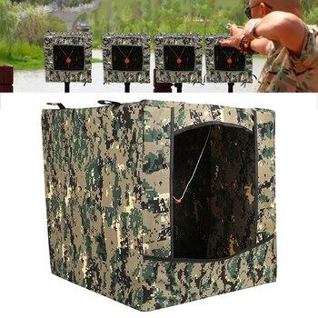 Portátil plegable camuflaje caza reciclar munición Slingshot Shoot Target Box Airsoft tiro blanco caso para Bullseye al aire libre