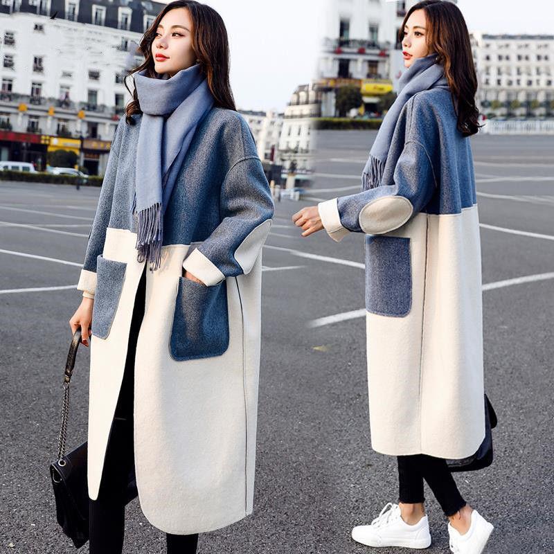 Women Cotton Coat 2020 Loose Casual Turn-down Collar Long Fashion Warm Female Cotton Coat