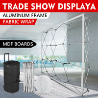 8*8FT Tension Fabric Pop Up Trade Show Booth Display Stand W/ Carry Case