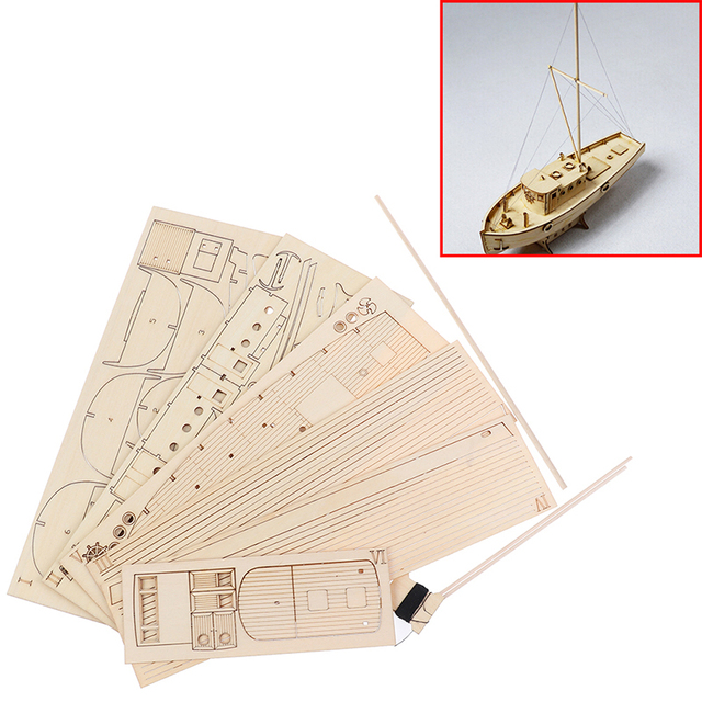 1/30 Nurkse Assembly Wooden Sailboat DIY Wooden Kit Puzzle Toy Sailing Model Ship Gift for Children and Adult 3