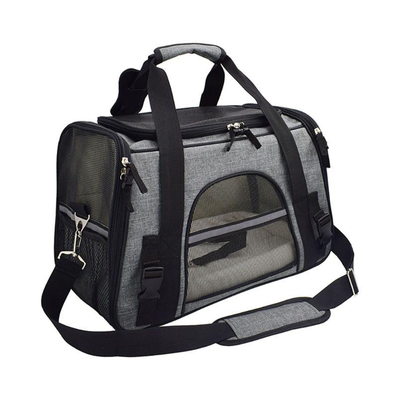Pet Outdoor Travel Pet Dog Puppy Cat Breathable Carrier Handbag Sling Adjustable Shoulder Bag Pouch 517D