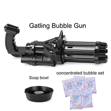 Electric Bubble Machine Black Gold Gold Gatling Bubble Gun Children's Automatic Blowing Bubble Toy Gun Kid Toy