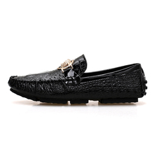 Casual Men Loafers Shoes High Quality Leather Moccasin Croco