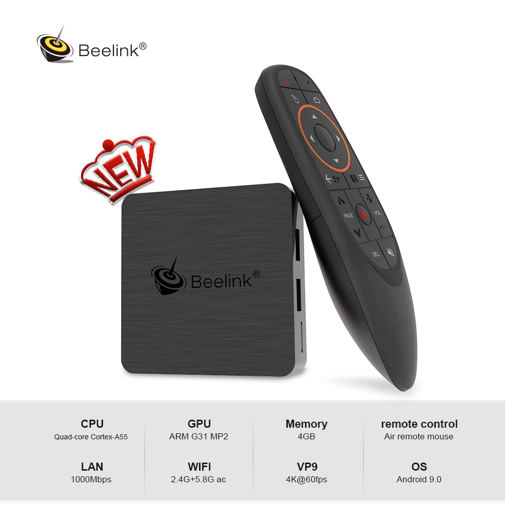 Beelink GT1 Mini - 2 Android 9.0 TV Box Amlogic S905X3 4K HD 4GB 64GB 2.4G 5.8G WiFi 1000Mbps BT 4.0 TV Box With Voice Remote