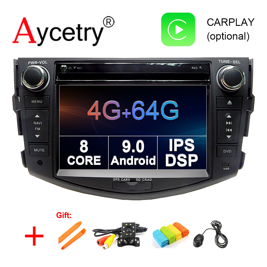 4G 64G IPS DSP 2 Din Android 9 0 car multimedia dvd player GPS for Toyota