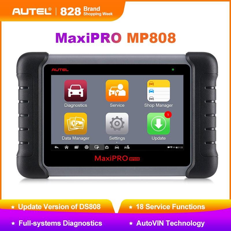Nuovo Autel MaxiPRO MP808 Auto Strumento di Diagnostica Automotive Scanner Auto Completo del Sistema di Prova OBD Autoscanner PK Maxisys MS906 DS808