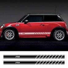 Autocollants latéraux de portes de voiture, 2 pièces, autocollants pour Mini Cooper, pour Mini Cooper F56 F54 F57 F55 F60 R50 R52 R53 R55 R56 R57 R58 R59 R60 R61, accessoires
