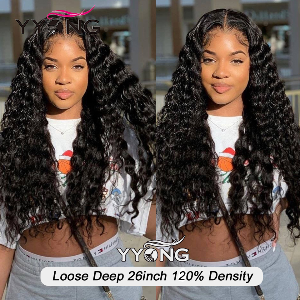 YYong 30inch 13X4 Lace Front  Wig  Loose Deep  Lace Closure Wig Natural Hairline 5