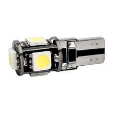 50pcs T10 5 SMD 5050 LED Canbus feux de voiture sans erreur W5W 194 192 5SMD Auto cale queue côté ampoule lampe de lecture blanc bleu rouge 50X