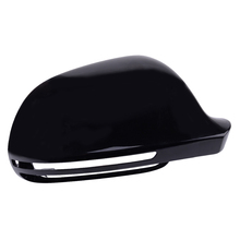 8F0857527B Right Side Wing Rearview Mirror Cover Cap Casing Shiny Black Fit for AUDI A3 A4 B8 A5 A6 A8 S8 Q3 Without Side Assist