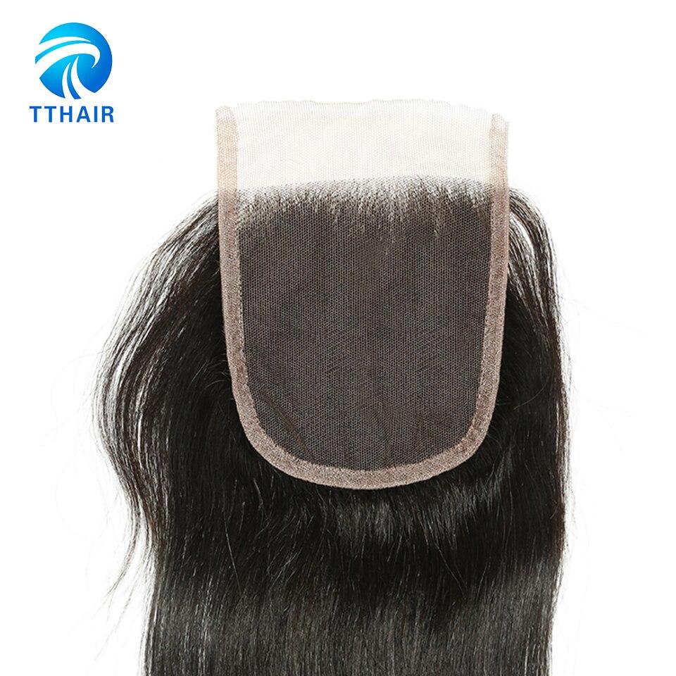 Image 5 - TTHAIR Straight Hair Bundles With Closure Remy Peruvian Hair Weave Bundles Human Hair Extension 3 Bundles With Closure-in 3/4 Bundles with Closure from Hair Extensions & Wigs