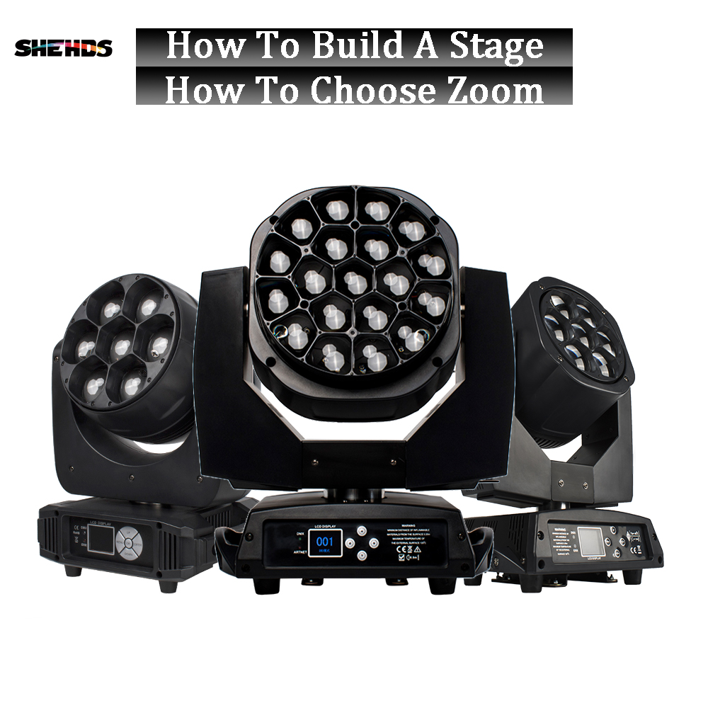 2PCS Led Zoom 19x15W RGBW From Europe Russia 5x12W 6x15W Bee Eye Wash Moving Head Light 7x15W Beam Lyre 6x40W Weeding Bar Stage