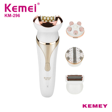 Kemei Professional Rechargeable Electric Hair Removal Instrument Female Epilator for Facial Underarm Body Trimmer KM-296 цена и фото