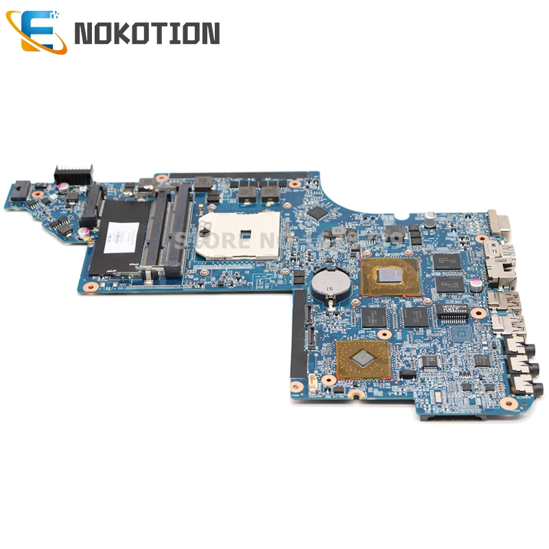 NOKOTION 650854-001 665284-001 665281-001 For HP Pavilion DV6 DV6-6000 Series Laptop Motherboard Socket FS1 DDR3 With GPU