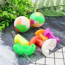 Yaratıcı istihbarat monte topu çocuk bulmacaları oyuncaklar nostaljik klasik montaj sihirli küp topu öğretici oyuncaklar çocuklar için