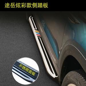 Image 2 - באיכות גבוהה אלומיניום רכב לוחות ריצה אוטומטי צעד צד בר דוושות עבור פולקסווגן Tharu 2018 2019 רכב סטיילינג