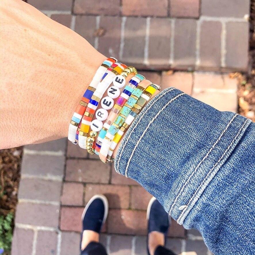 Go2boho – Bracelet Tila pour femmes, bijoux japonais Miyuki perle Pulsera bohème coloré, Bracelets extensibles, accessoires