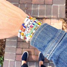 Go2boho Tila Bracelet pour femmes bijoux japonais Miyuki perle Pulsera bohème coloré bijoux extensible Bracelets accessoires