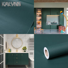 Dark Green Self-Adhesive Wallpaper Bedroom Kitchen Drawer Liner Cabinet Sticker PVC Waterproof Contact Paper Wall Decorate Mural