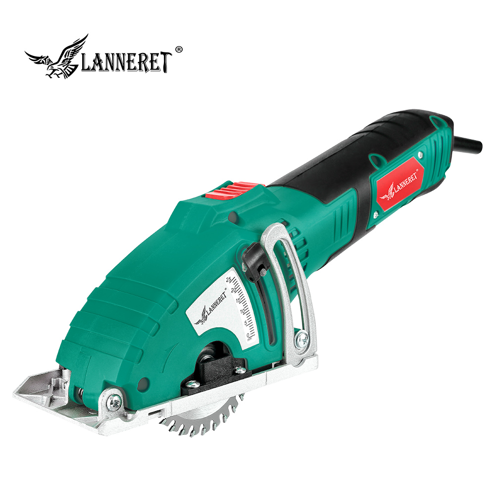 LANNERET Electric Mini Circular Saw 700W Electric Saw Parallel Guide Attachment Tools Wood Saw Metal Saw Include 3pcs Blades