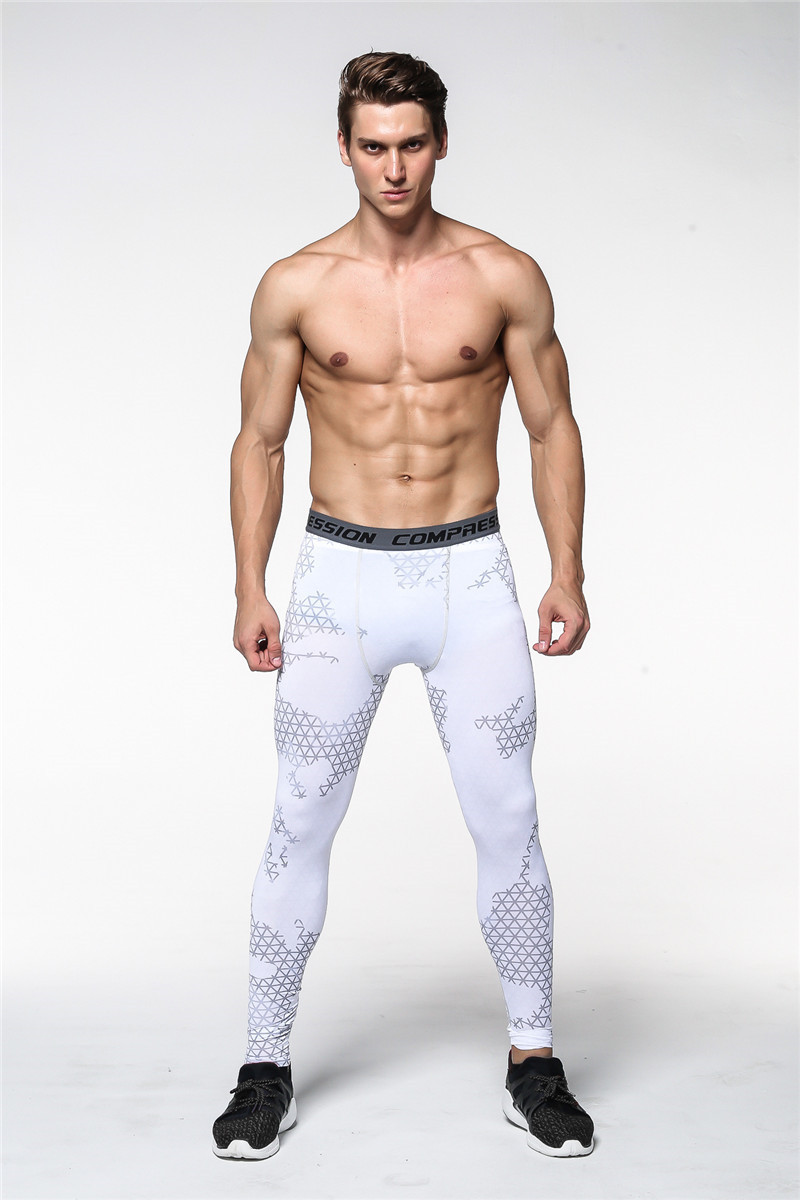 Men Running Fitness Sweat Absorbing Breathable Quick-Drying Trousers Outdoor Sports Pro Men's Camouflage Leggings