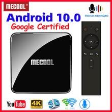 Mecool km3 atv caixa de tv android 10 google certificado smart tvbox android 9.0 caixa de tv s905x2 4k hdr android tv streaming media player