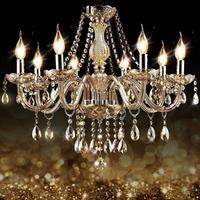 Lâmpada de jantar lustre moderno design verlichting deco maison cristal luz suspensão luminária suspendu hanglamp|Luzes de pendentes| |  -