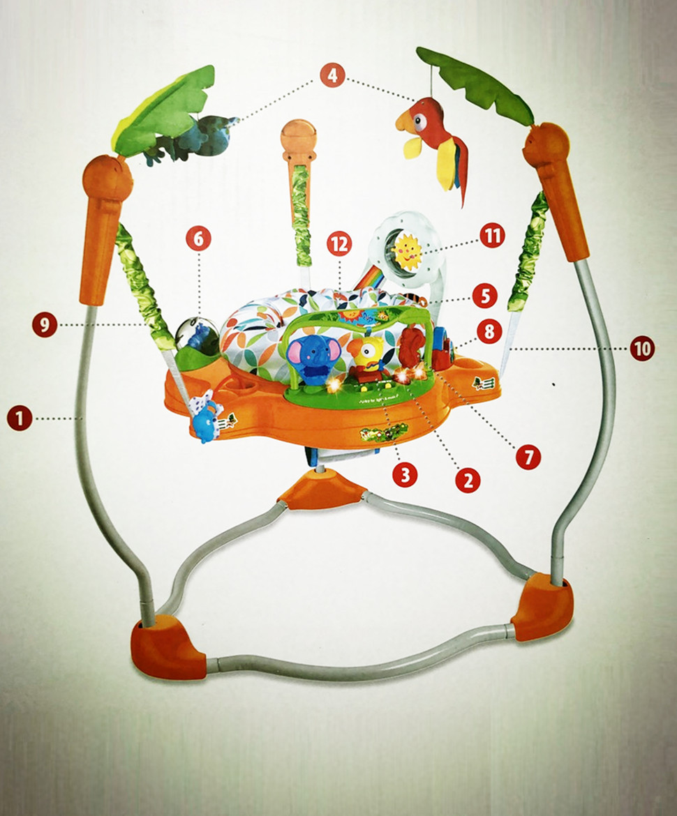 H11ef3dc418894a148ac0b972589955928 Multifunctional Electric Baby Jumper Walker Cradle Tropical Forest Baby Swing Rocking Body Child bouncer Swing Fitness Chiar