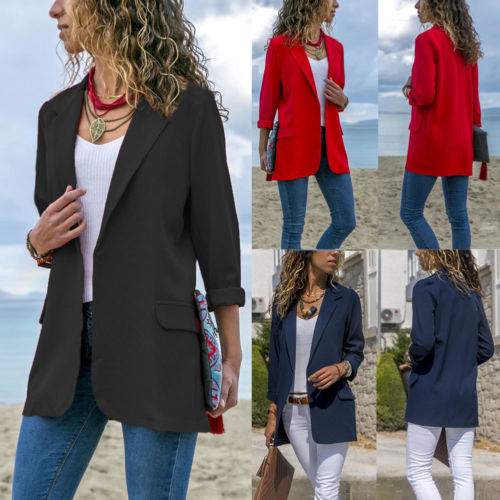 New Elegant Fashion Women Casual Slim Business Blazer Suit Coat Jacket Outwear