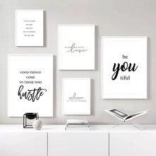 Vida moderna citações arte cartazes nordic pintura da lona arte da parede letras impressão imagens minimalista para sala de estar decoração sem moldura