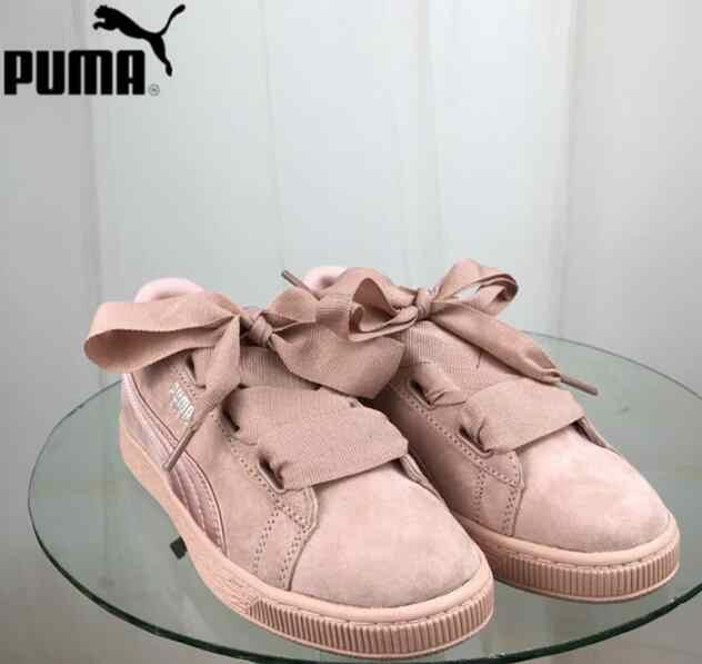 Puma Wanita Suede Jantung EP Pelatih Bulutangkis Sepatu 366922-01-02 Ringan Olahraga Sepatu Merah Muda Warna Hitam sneaker Ukuran 35.5-39