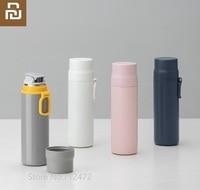 Youpin garrafa térmica portátil xícara de café chá leite caneca viagem garrafa térmica 450ml 316 forro aço inoxidável 24h temperatura bloqueio