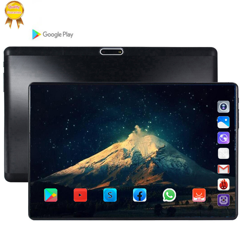 64GB 128GB Global Bluetooth Wifi Android 9.0 10.1 Inch Tablet Octa Core 6GB RAM 128G ROM Dual SIM Card 2.5D Glass Tablet Pc