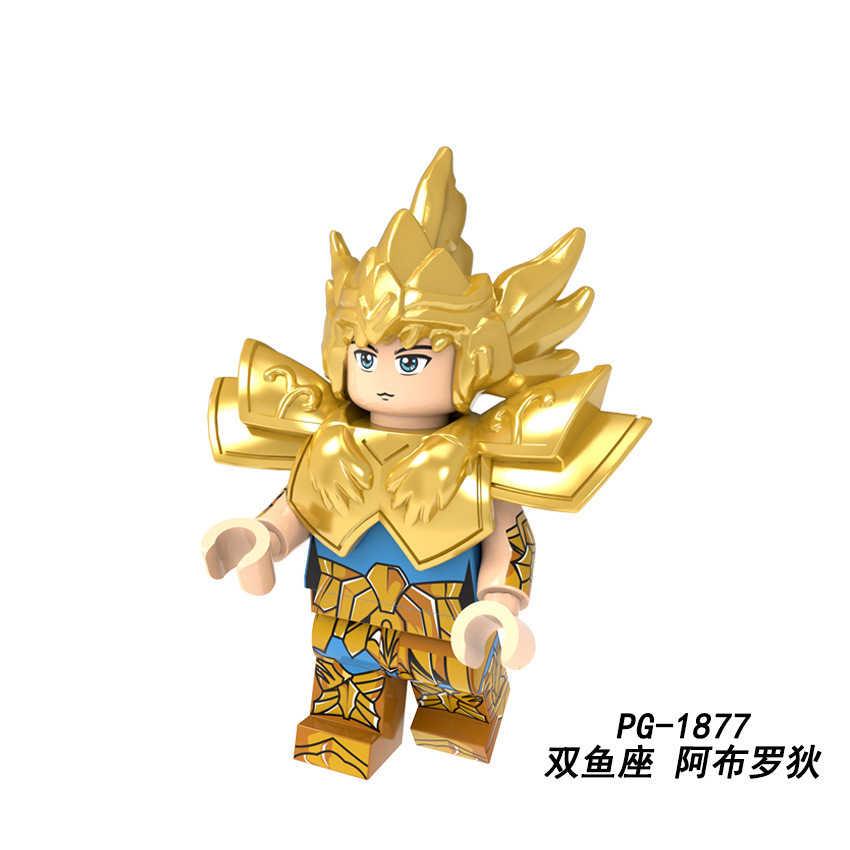 Saint Seiya דמויות אתנה Shiryu קרחון זהב שנים עשר כוכבים יפן אנימה בניין בלוקים לילדי מתנות