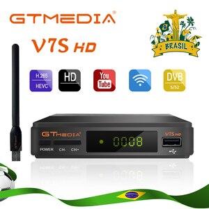 Satellite Receiver GTMEDIA V7S HD DVB-S2 1080P HD Support Spain Brazil clines powervu youpron set top box + Usb Wifi PK V9 Super(China)