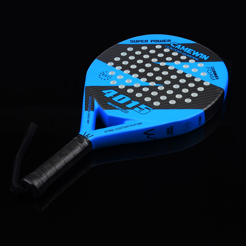 New Carbon Fiber Padel Tennis Racket Soft EVA Face Paddle Tennis Racquet With Bag Cover Rackets For Padel