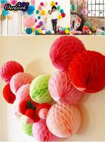 DHL/EMS Free,30 Pieces/lot 8 inch(20cm) Tissue Paper Flowers Poms Honeycomb Balls for Wedding Party Favor Decoration