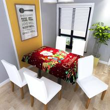 Christmas Digital Printing Santa Claus Tablecloth Table Cover Hotel Home Party Decoration Soft Comfortable