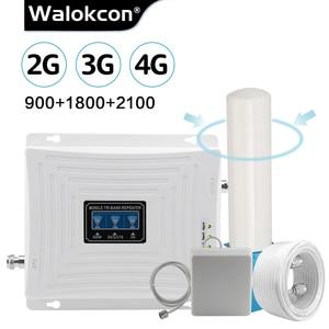 Image 1 - 무지 향성 안테나 2g 3g 4g 트라이 밴드 신호 부스터 GSM 900 1800 2100 GSM 3g LTE 셀룰러 리피터 GSM 4G LTE 증폭기